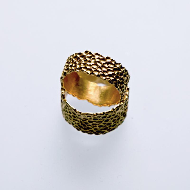 Złote lub srebrne obrączki Płaszczka wklęsła